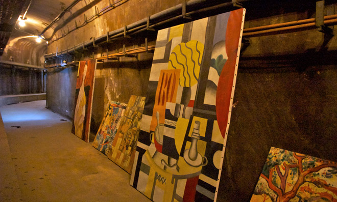Art stolen by UX, on display out of public view, in tunnels
